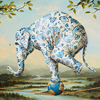 Kevin Sloan John James Audubon magic realism painting