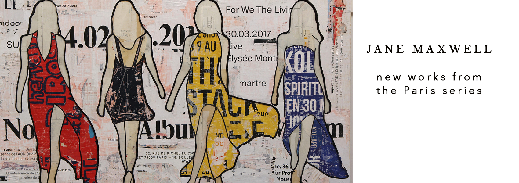 paris collage art boston painter
