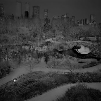 central park pond nyc nighttime photography