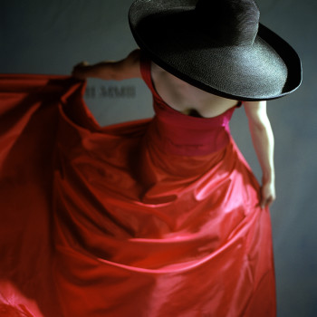 Rodney Smith, Gilman Contemporary red dress black hat fashion photography