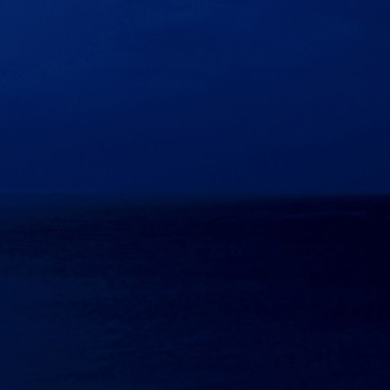 Horizon line, minimal photography, caribbean nightscape