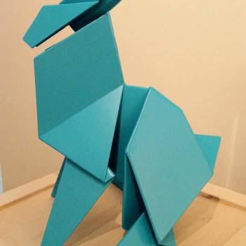 Hacer Sitting Rabbit Sculpture origami contemporary sculpture