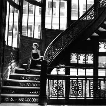 stairwell staged image fashion archival pigment print