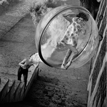 fashion photography bubble series black and white photography Getty museum collection LA