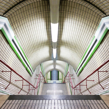 metro vert, paris metro, fine art photography