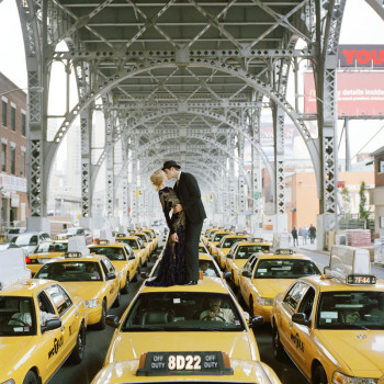 Rodney Smith edythe and andrew kissing on taxi new york nytimes