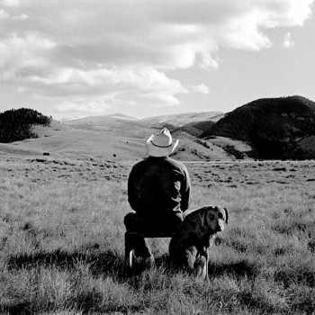 landscape, rodney smith, ranch manager, dog, figure from the back