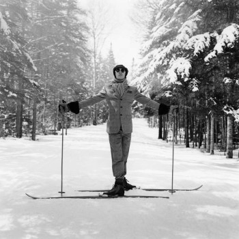 reed on skis rodney smith sun valley ski art