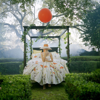 color fashion photography, whimsical images, red balloon in art