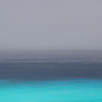horizon I, carribean seascape photography, color photography