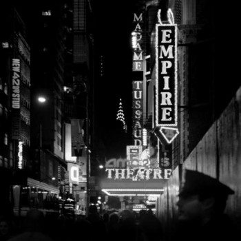 Jason Langer Times Square black and white photography