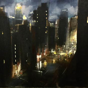 cityscapes, oil paintings