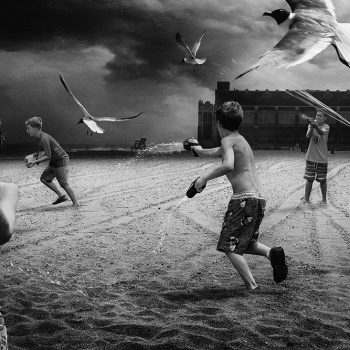 Diaz and Young Photomontage international collaboration Black and white photography