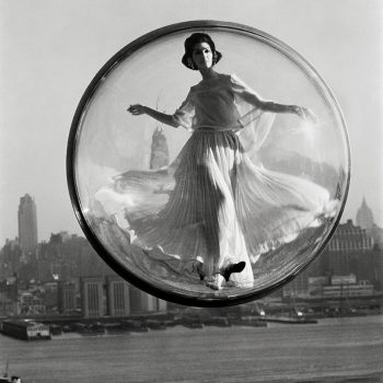 harper's bazaar-buy art print girl in bubble fashion photography