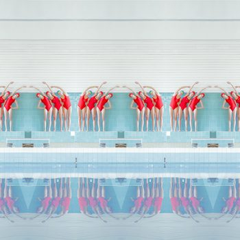 repetition mirror images manipulated photography photograph for sale swimmer swim pool photos slovakia svarbova