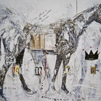 horse, painting, mixed media books, ashley collins gallery representation