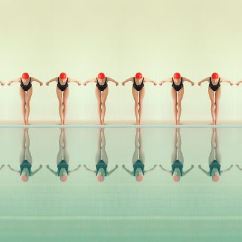 diving pool manipulated photography buy art