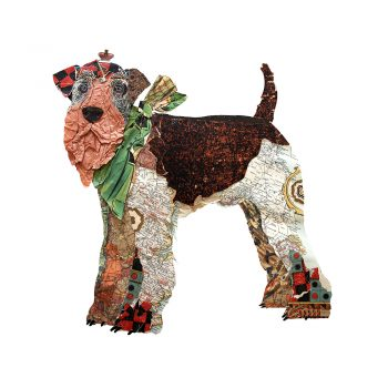 collage, print, dog, terrier, art