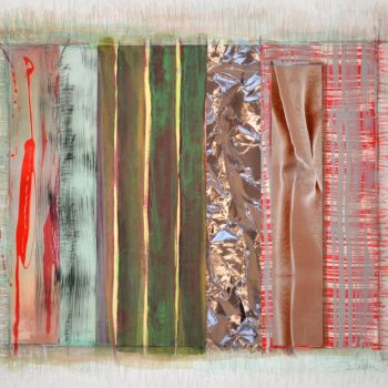 Abstract,mixed media paper, collage,stephanie weber