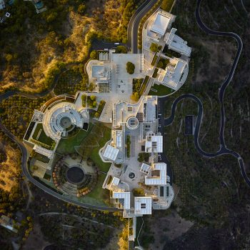 aerial LA photography, LANY getty museum