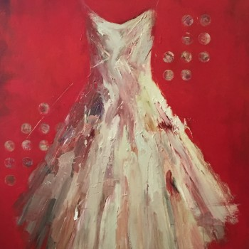 tuscon museum of art red dress paintings jim dine inspired