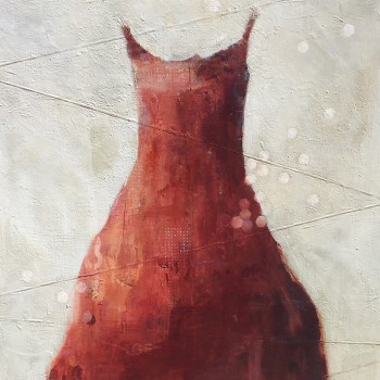 dress paintings, gallery in ketchum idaho, contemporary painting, mixed media, acrylic