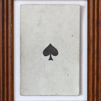 card deck, ace of spades, black and white photography, vintage imagery, traditional photographic techniques, sun valley art gallery