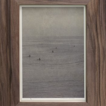 vintage frame, surfers, black and white photorgaphy, neo traditional photography