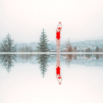 slovakian photographer, winter pool scene, purchase, Maria Svarbova