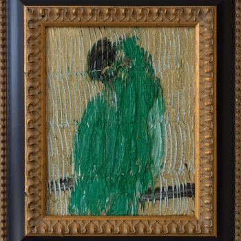 Hunt slonem collect art, Parrot portraits, faux naif, contemporary painting