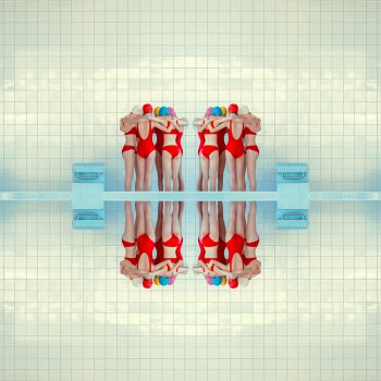 Mária Švarbová, repetition, swimming pool, reflections, photography