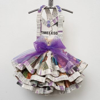 mixed media, dress sculpture, timeless, tulle
