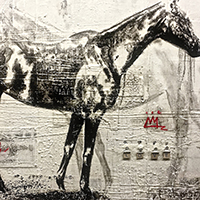 figurative horse paintings contemporary collage
