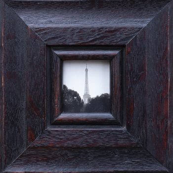 Eiffel Tower, artist made frame, contemporary art gallery in Idaho