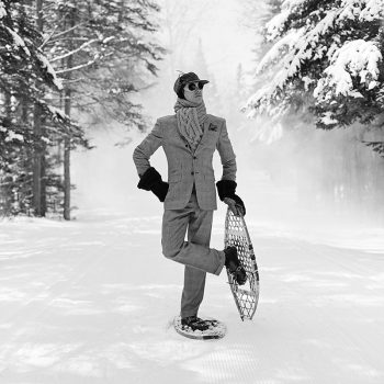 rodney smith photography, black and white, snow shoe, winter images