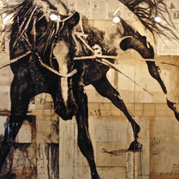 ashley collins horse paintings equestrian art sporting