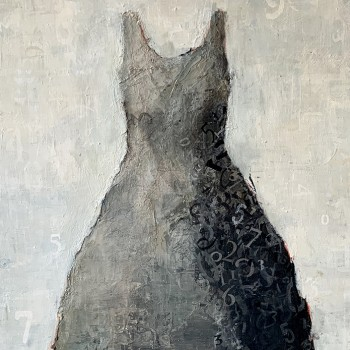 Dress paintings, laura schiff bean, contemporary painting