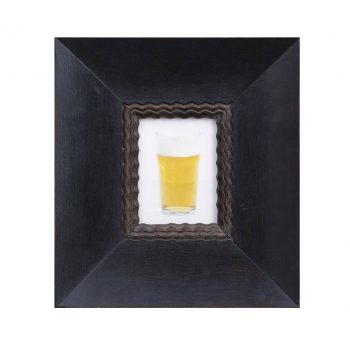 still life of beer glass, color photography
