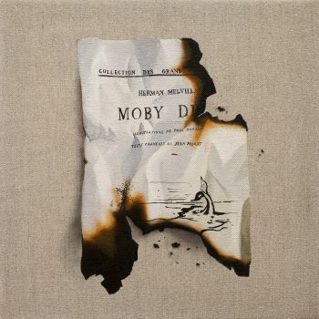 literary art, Moby Dick, Béliveau hyper realist painter, neutral colors