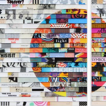 James Verbicky, collage, resin, california artist