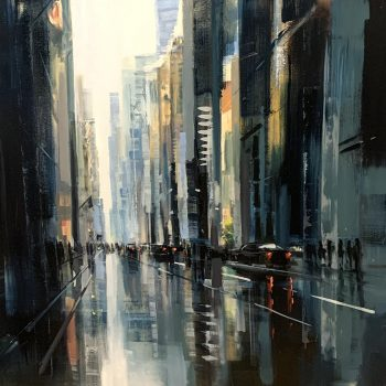 Craig mooney, oil painting, cityscape