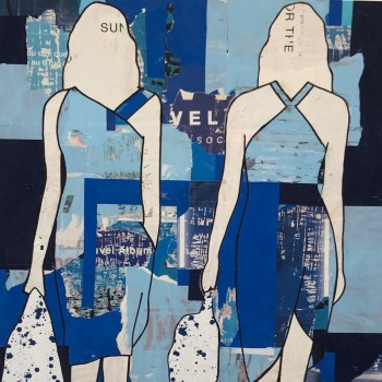 fashion in art, mixed media, Jane Maxwell