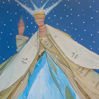 figurative painting, snow princess, inspired by snow, fairytale inspired