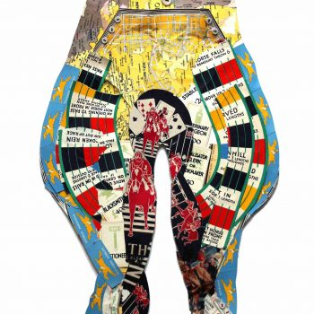 british artist peter clark, mixed media, collage art